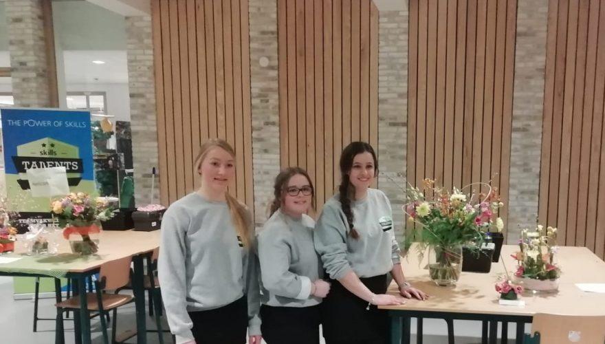 Tweede plaats voor leerlingen Bloemwerk bij Skills Talents 2019